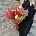 buket roze ruze 1